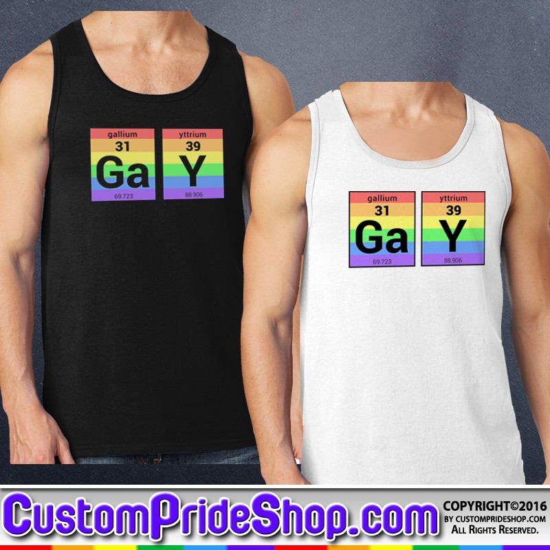 92c7a95305 GaY Pride Periodic Table of Elements T-Shirt