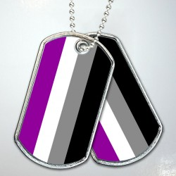Asexual Pride Flag Dog Tags