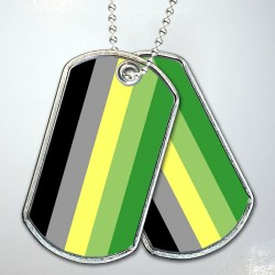 Aromantic Pride Flag Dog Tags