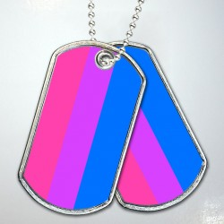 Bear Pride Flag Dog Tags
