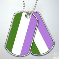 Genderqueer Pride Flag Dog Tags