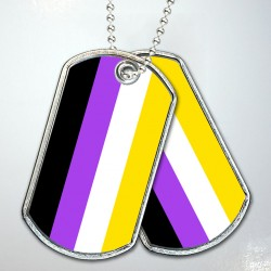 Nonbinary Pride Flag Dog Tags