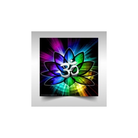 Mystical Lotus Om Spectrum Poster