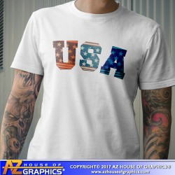 USA Initials T-Shirt
