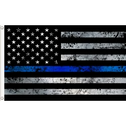 Thin Blue Line Tapestry Flag