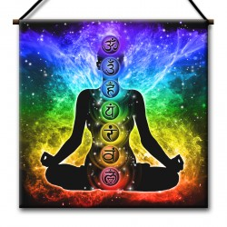 Ohm Mystical Glowing Lotus Tapestry