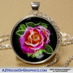 Electric Rose Pendant
