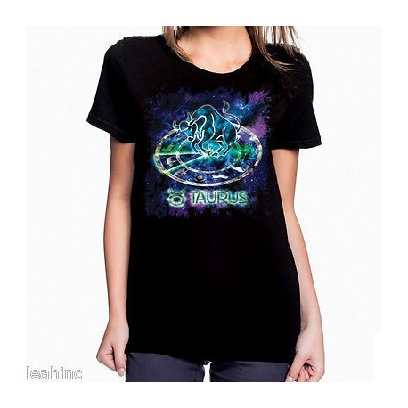 Ladies Colorful Zodiac T Shirt Astrology