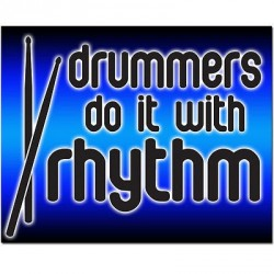 """Drummers Do it with Rhythm"" Bumper Sticker"