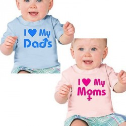 I Love My Moms/Dads Pride Infant and Child T-Shirts