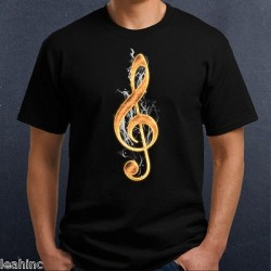 Fire Treble Clef T-Shirt