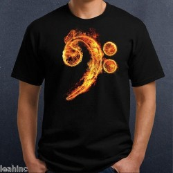 Fire Bass Clef T-Shirt