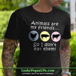 Animals Are My Friends Vegan T-Shirt