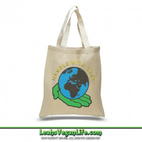 Handle With Care Canvas Tote Bag - 100% Cotton