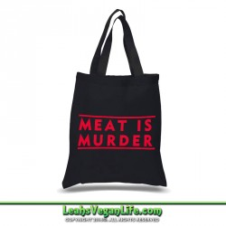 Meat is Murder Canvas Tote Bag - 100% Cotton