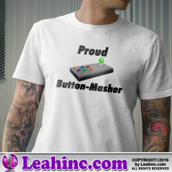 """Button Masher"" Gaming Nerd Shirt"