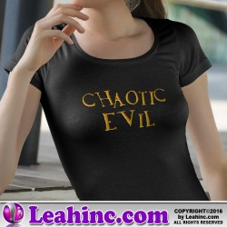 """Chaotic Evil"" Alignment Nerd Shirt"