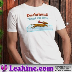 """Dachshund Through the Snow"" Christmas Shirt"
