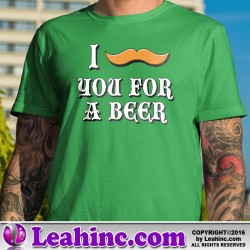 """""""I Mustache You For a Beer"""" St. Patrick's Day T-Shirt"""