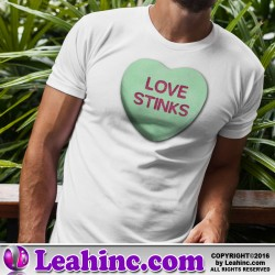 """Love Stinks"" Candy Heart Valentine's Day T-Shirt"