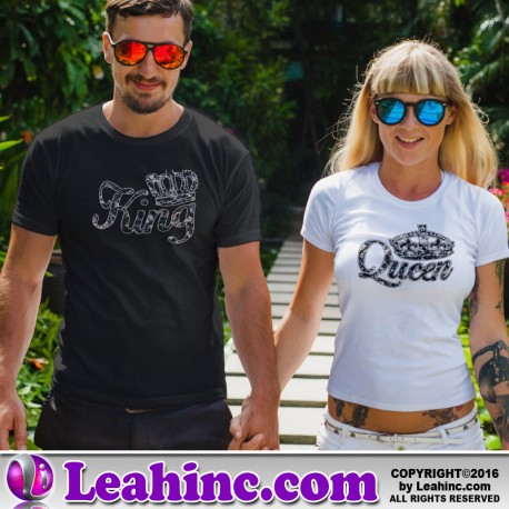 622ecc25b King and Queen Jewels Couples  Valentine s Day T-Shirt