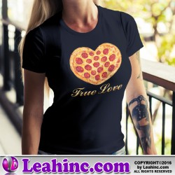 """True Love"" Pizza Heart T-Shirt"