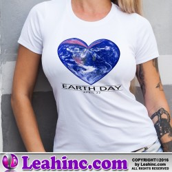 Earth Day Heart Globe T-Shirt