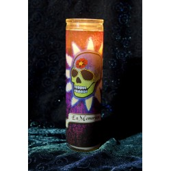 "Day of the Dead Prayer Candle - Spanish ""In Memorium"""