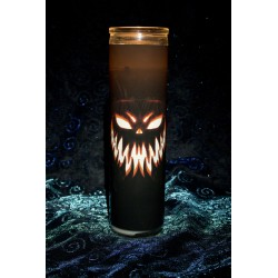 Scary Pumpkin Face Halloween Candle